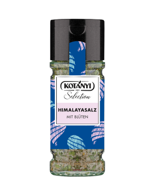 Kotányi Selection Himalayasalz mit Blüten im 100ml Glas