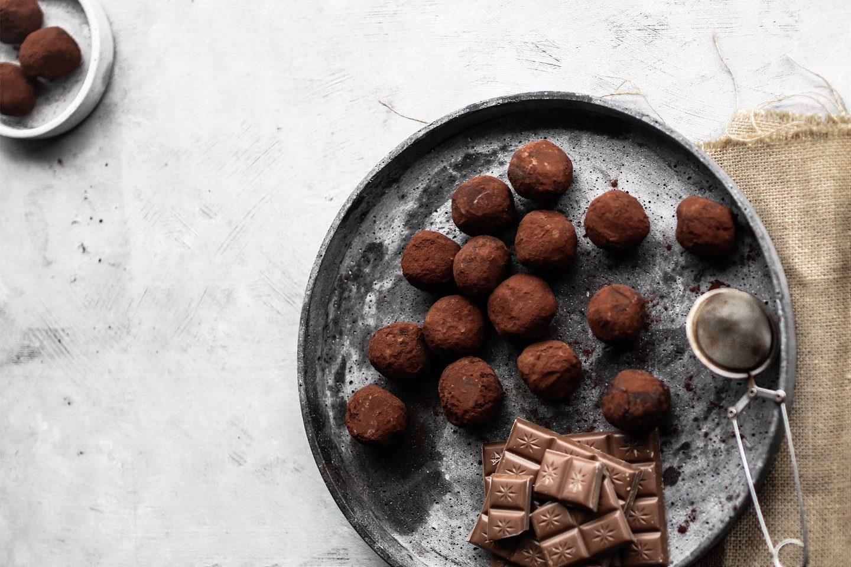 Orangenschokolade-Trüffel Pralinen mit Bourbon Vanille