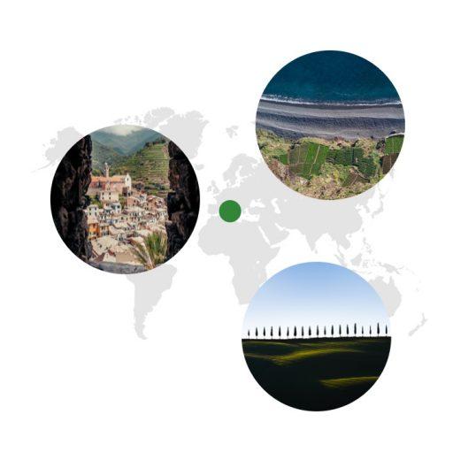 Ursprungsgebiet von Dill auf der Weltkarte
