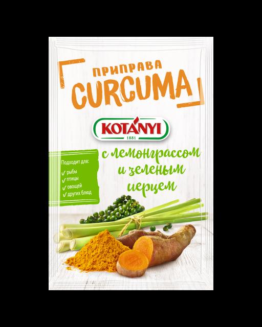 356711 Kotanyi Kurkuma S Lemongrassom I Zelenym Pertsem B2c Pouch
