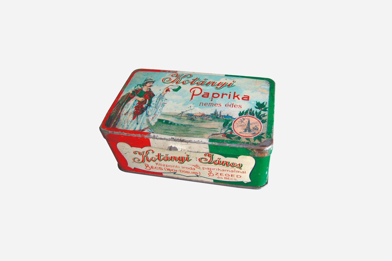 Упаковка молотой паприки Kotányi, 1900год