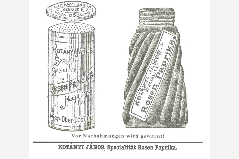 Туба с паприкой Kotányi, 1900год