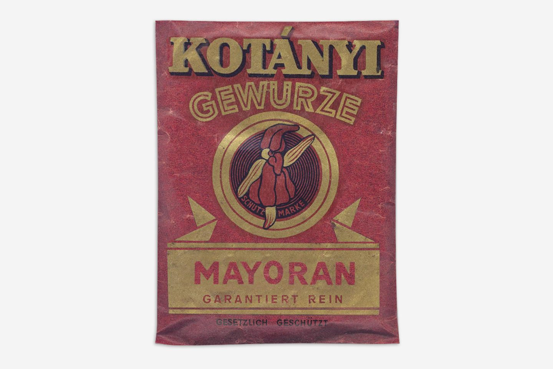 Пакетик майорана Kotányi, 1900год.