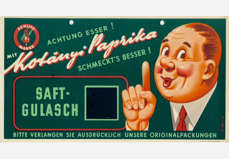 Реклама Kotányi, 1950-е годы.