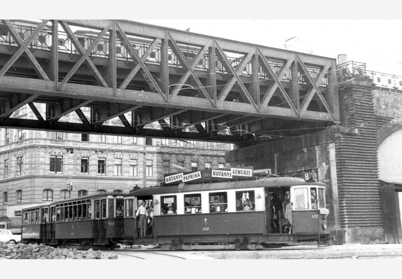 Трамвай в Вене с рекламой Kotányi, 1957год.