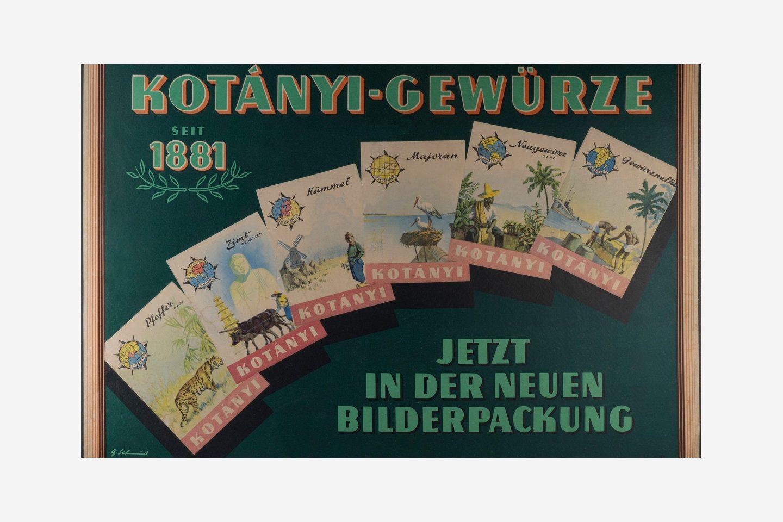 Рекламный плакат Kotányi для пакетиков с иллюстрациями, 1970год