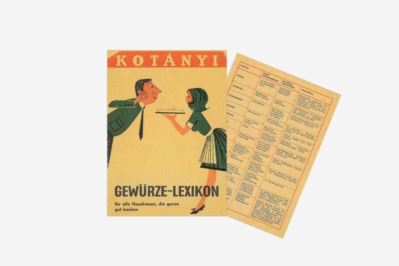 Словарь специй Kotányi, 1970год