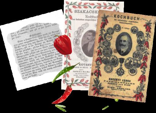 Две обложки кулинарных книг Януша Котани и отрывок из рецепта.