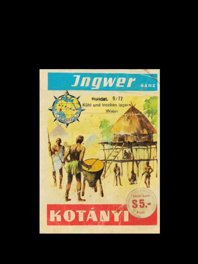 Пакетик имбиря Kotányi, 1970-е годы.