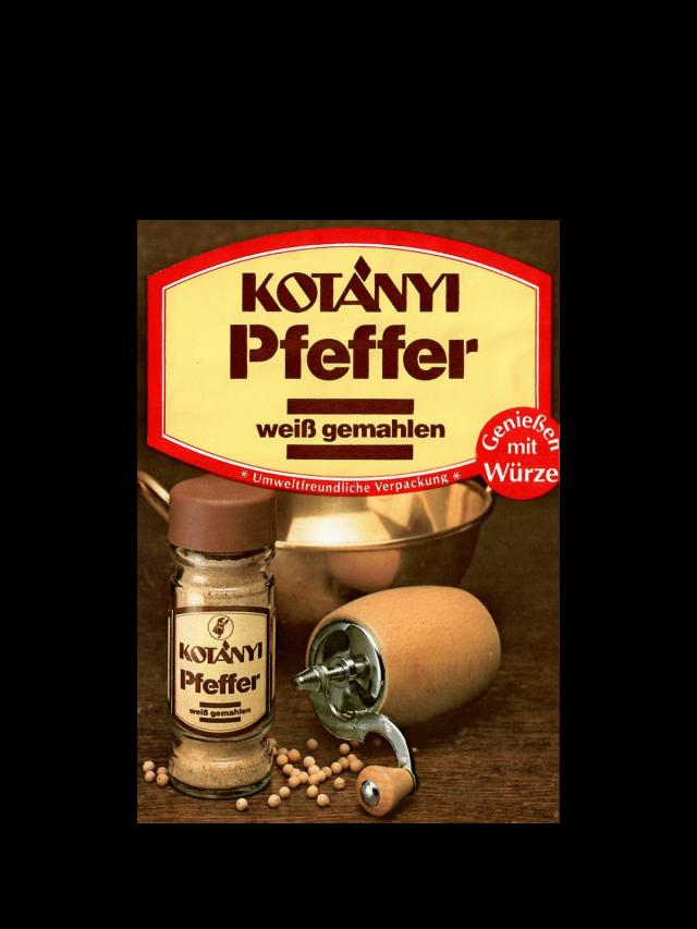 Пакетик белого перца Kotányi, 1980-е годы.