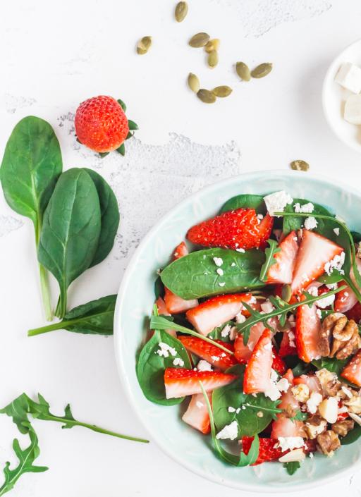 Erdbeer Spinat Salat Txt1
